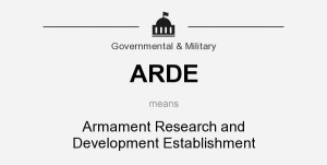 ARDE means - Armament Research and Development Establishment