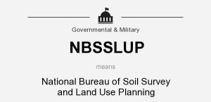 NBSSLUP means - National Bureau of Soil Survey and Land Use Planning
